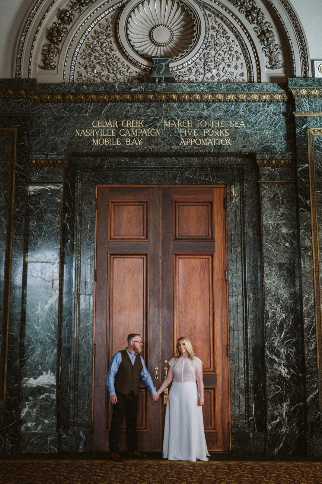 Chicago Cultural Center weddings   intimate wedding photographer   lisa kathan photography