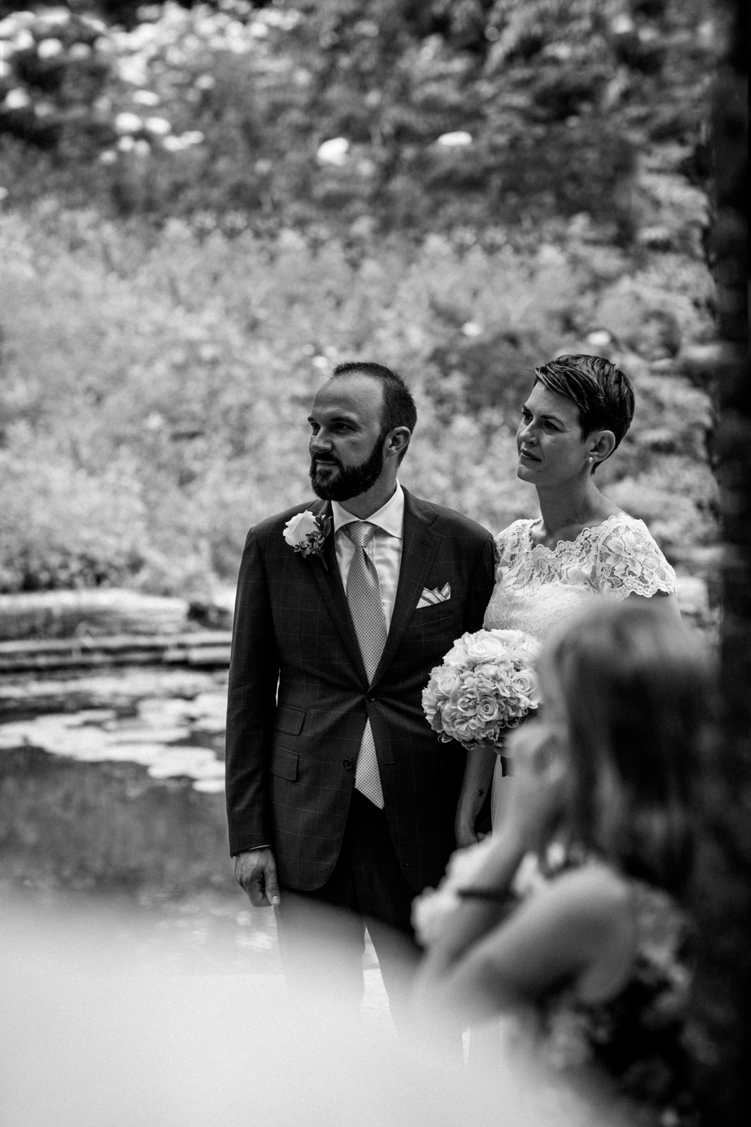 elopement | alfred caldwell lily pond wedding | lisa kathan photography