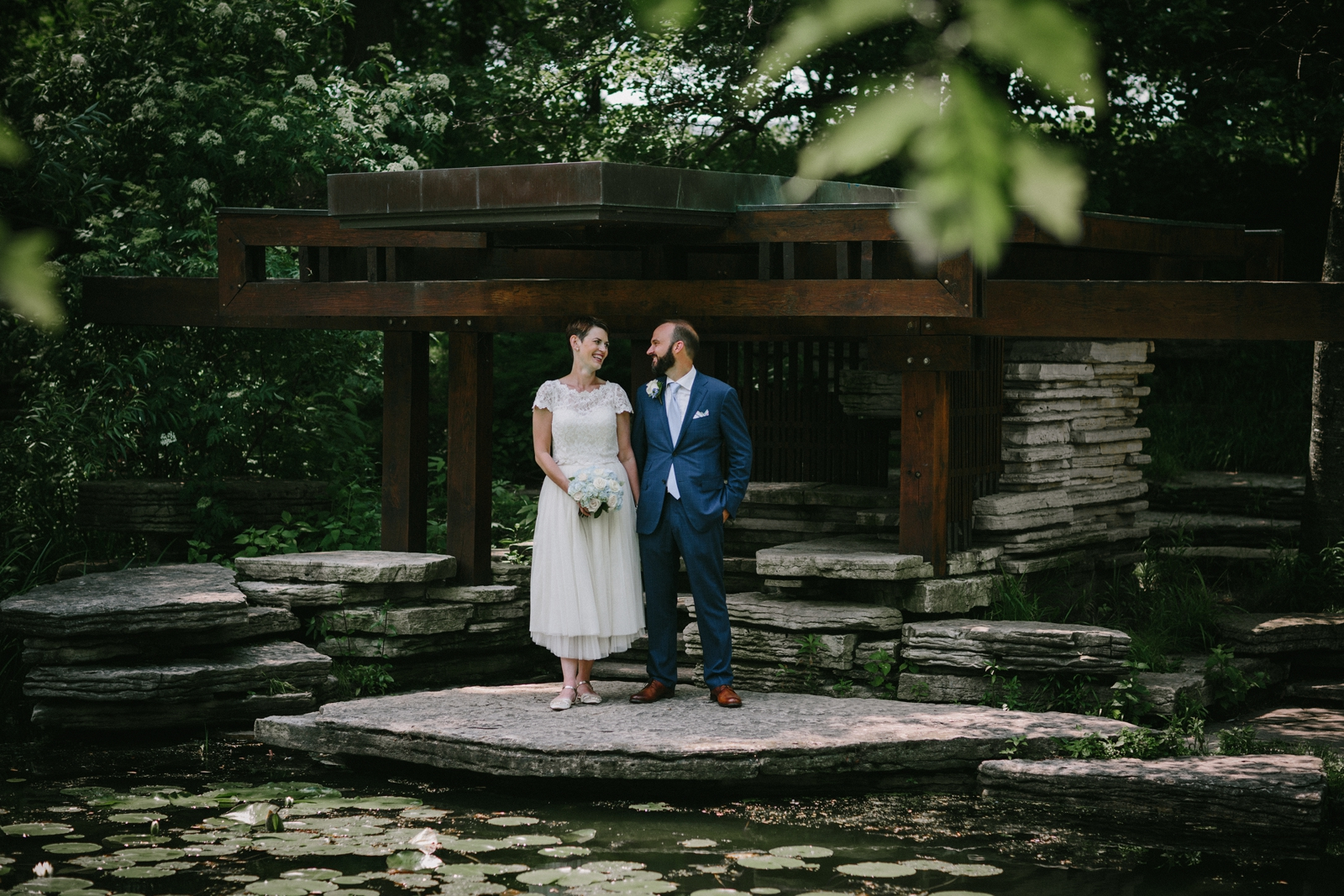 elopement | alfred caldwell lily pool wedding | lisa kathan photography