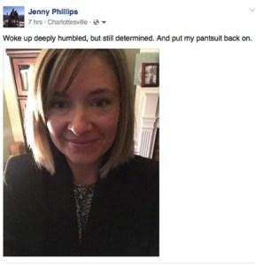 My post-election, pre-talk, pantsuit selfie.
