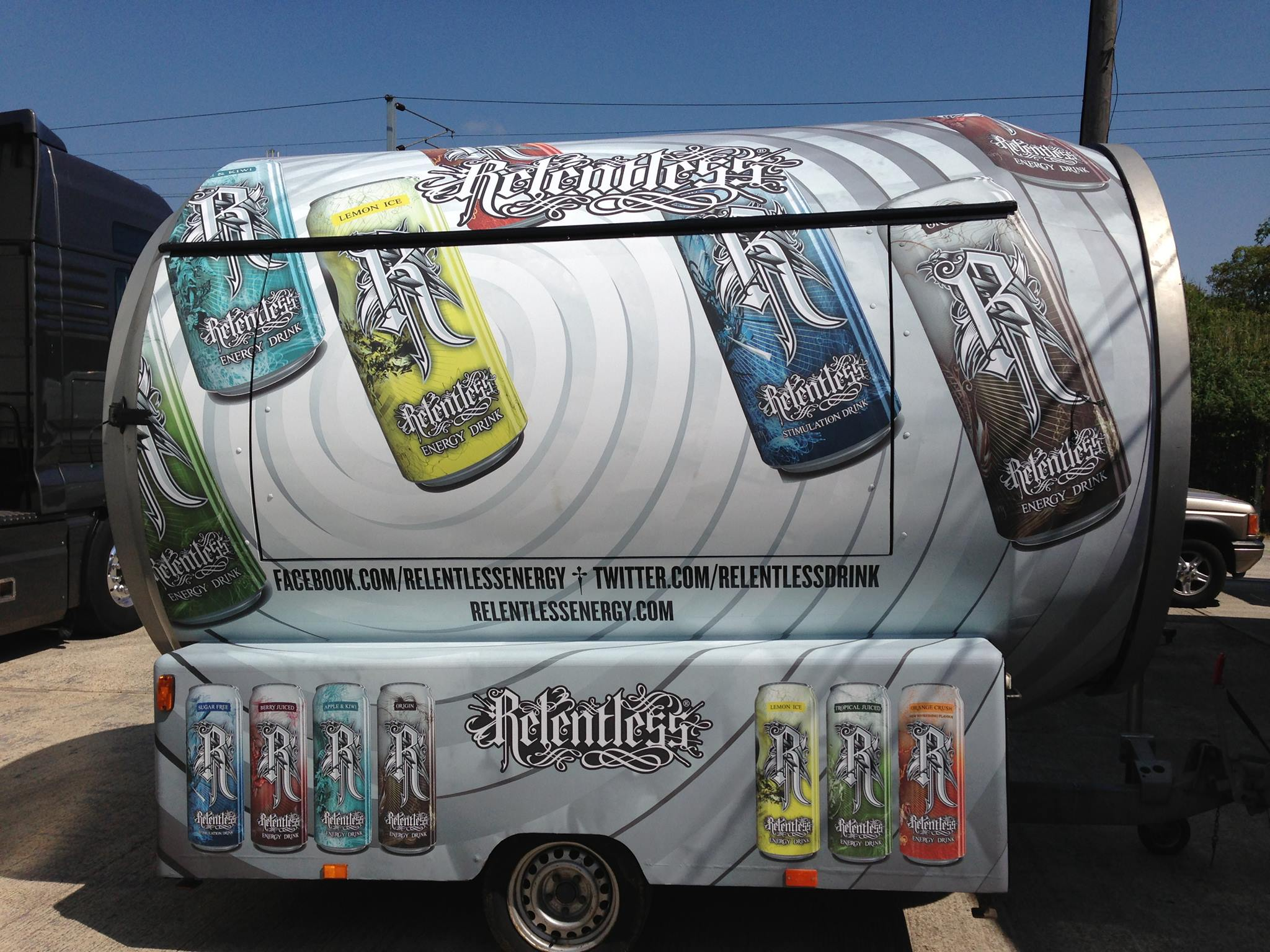 Relentless trailer wrap