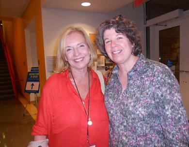 With Meg Wolitzer, 2012