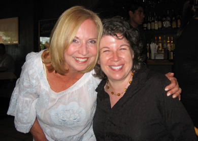 With Meg Wolitzer, 2010