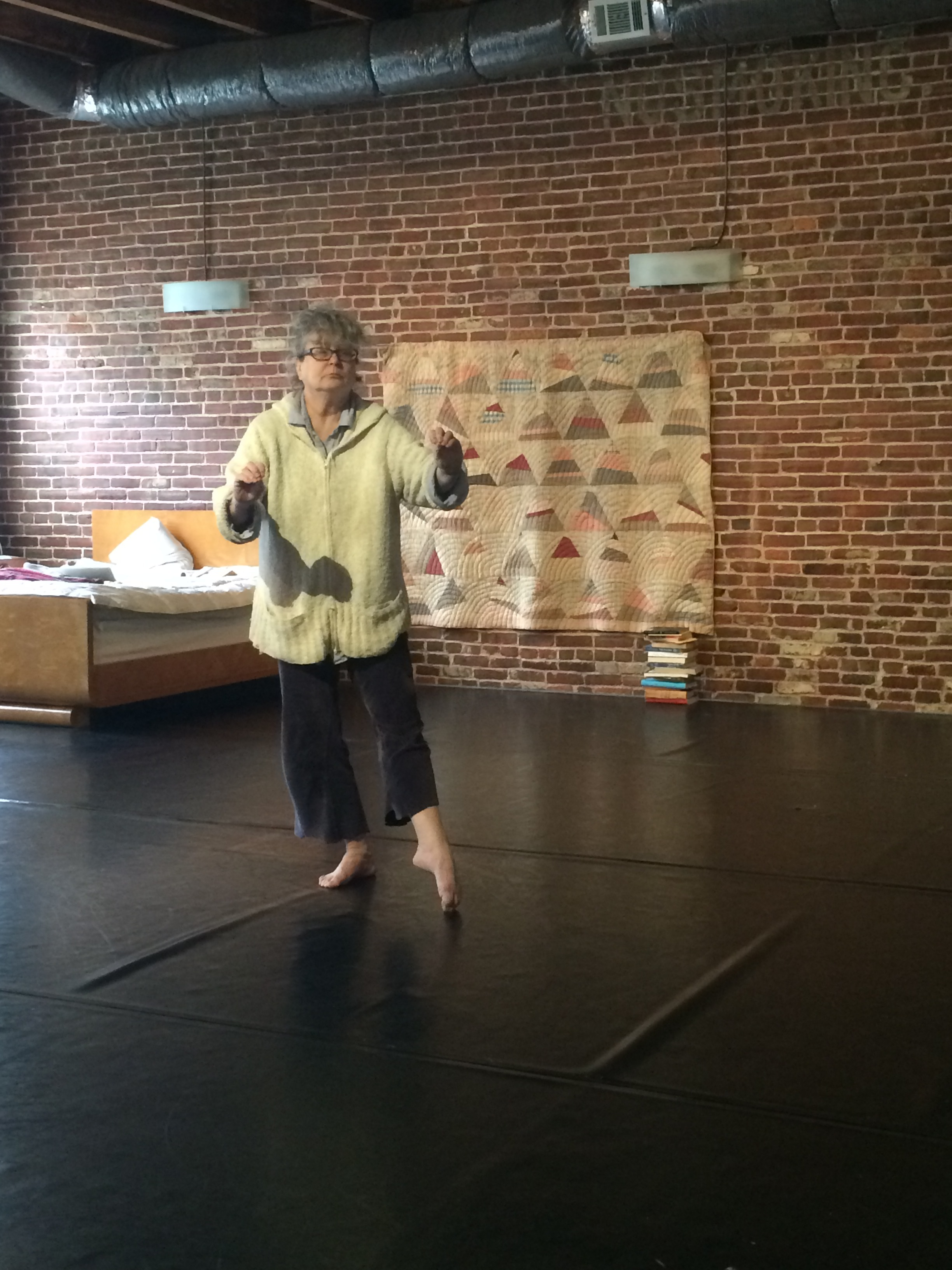Susan at the first Convening in at Redhorse Studio in Philadelphia. Photo: Lila Hurwitz