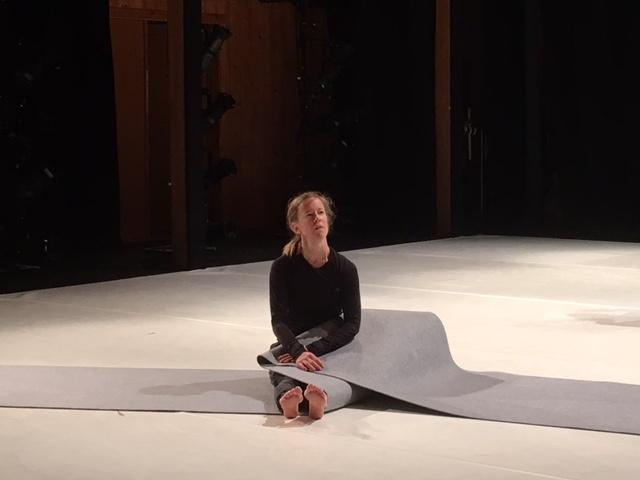Bronwen at the Jacob's Pillow production residency, November 2017. Photo:Lila Hurwitz