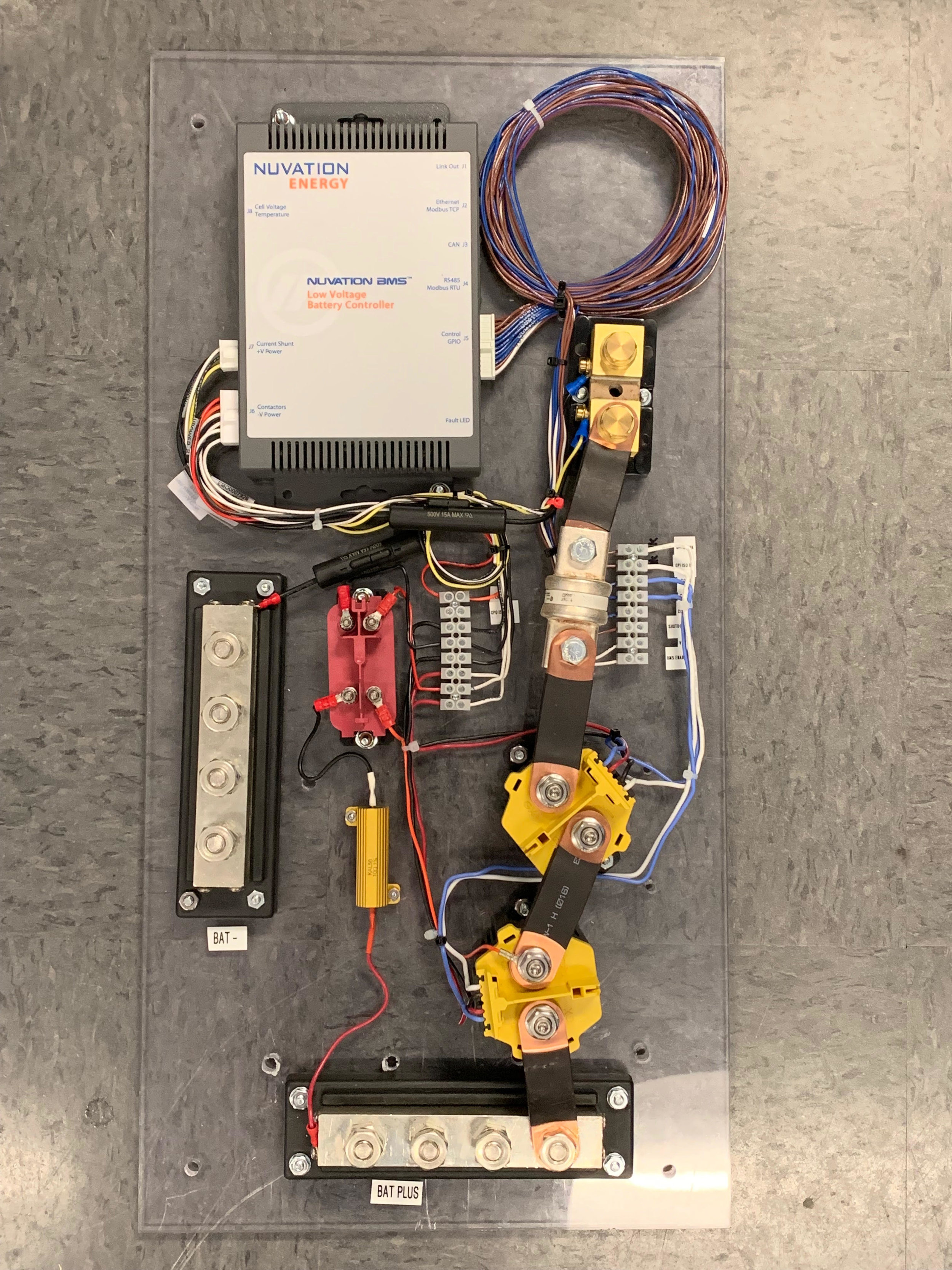 Build a Battery Control Panel like this to protect your battery system