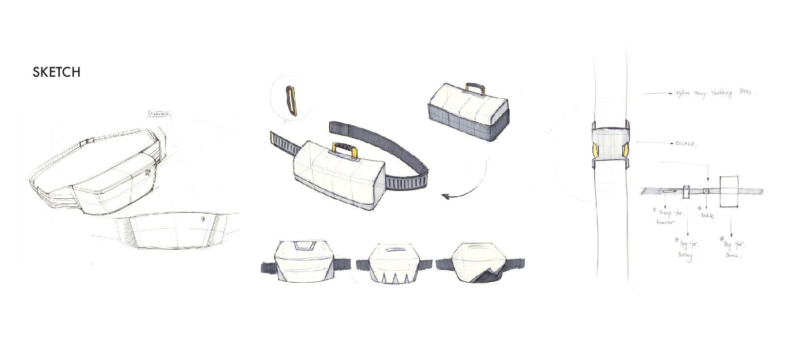 bag design sketch by Jay Qian