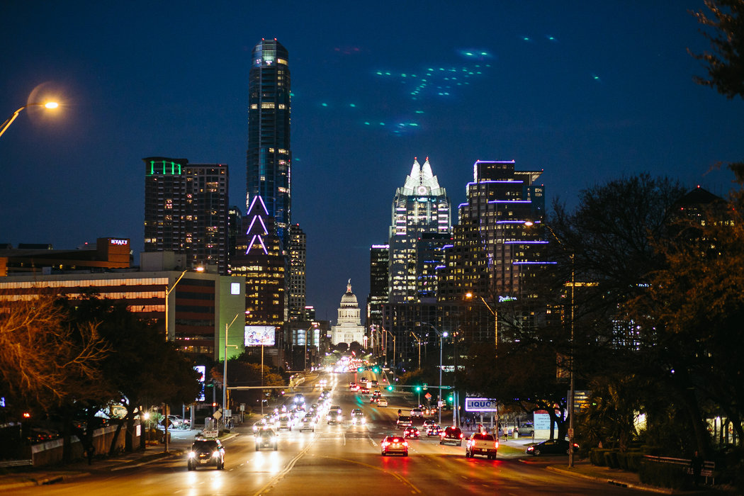 Downtown, seen from South Congress Avenue. (Photo credit: Stacy Sodolak for The New York Times)