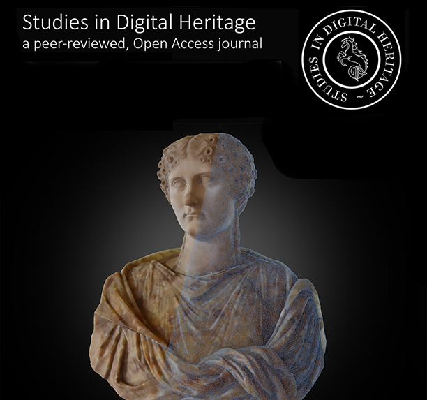 Rendering by Dennis Hill (Indiana University) showing the 3D model of a bust of Agrippina Minor in the Uffizi Gallery (inventory nr. 115; Italian marble; Ht: 0.58 m). The rendering combines a shadeless and wireframe view of the model. The model was created by the Indiana University Virtual World Heritage Laboratory as part of its 3D digitization project undertaken in partnership with the Uffizi Gallery. See the interactive 3D model at:  https://skfb.ly/OUrD