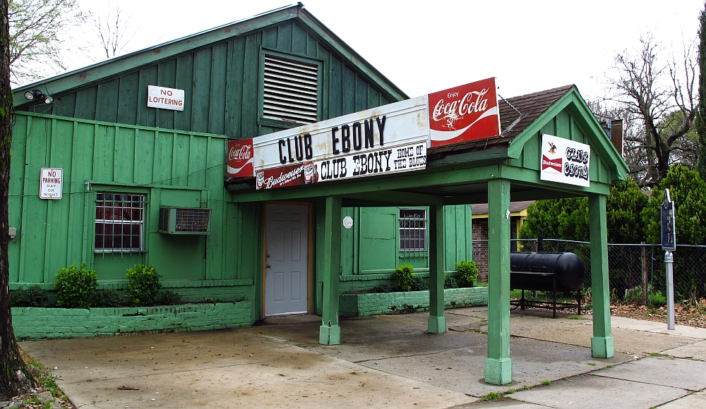 Club Ebony: Indianola Heart of the Mississippi Delta  BB King started out playing here. Little known fact is that he would also would show up here after the Delta Blues Festival.