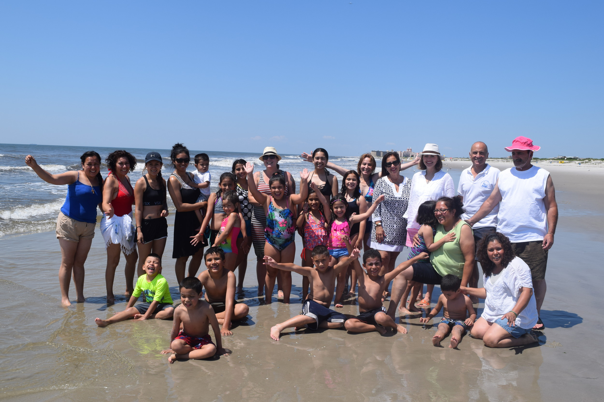Families from the Belmont Child Care Association spent a day in the sun at Camp ANCHOR in Lido Beach last month.