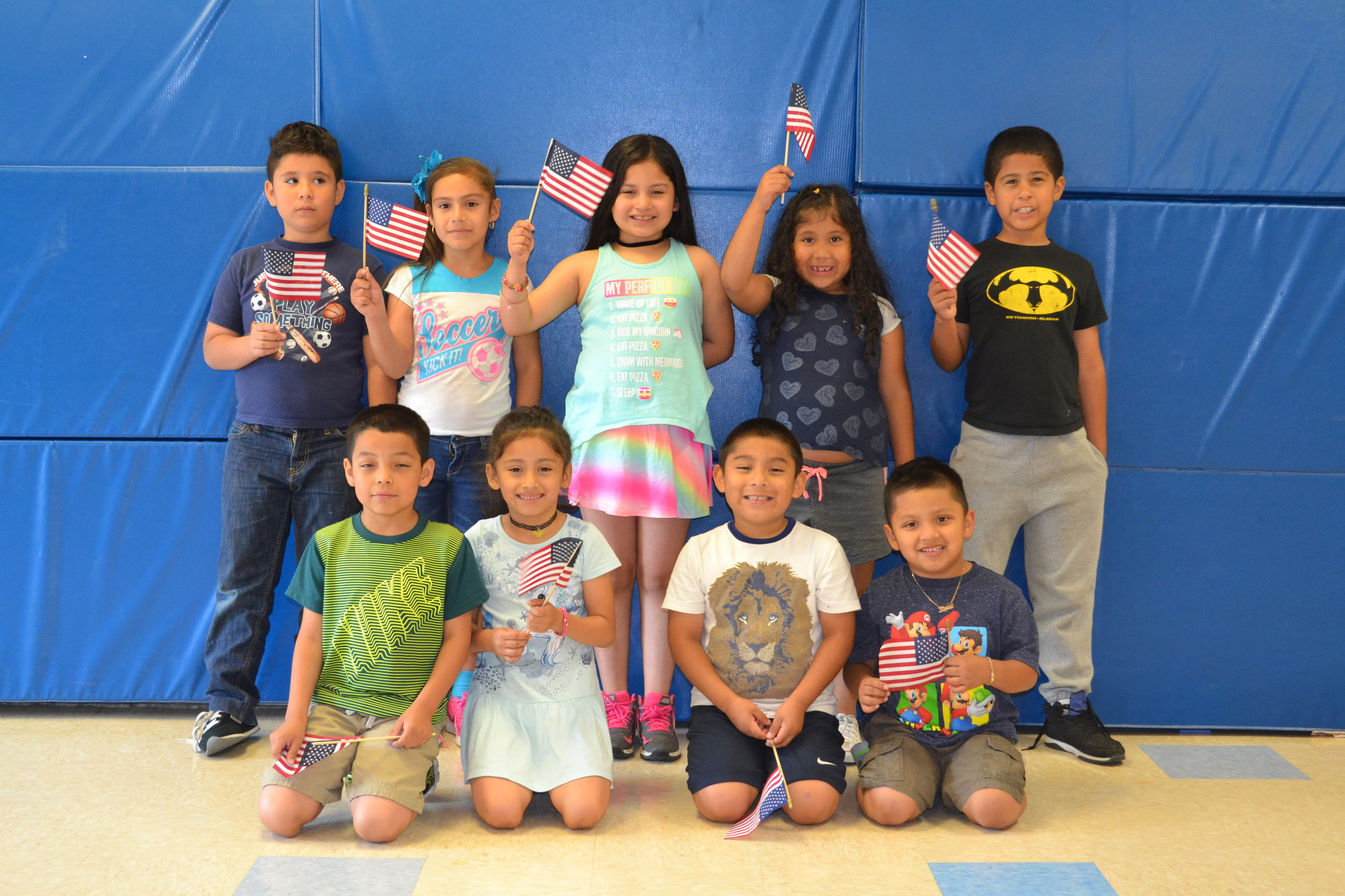 Our School Age class getting into the 4th of July spirit at Anna House!