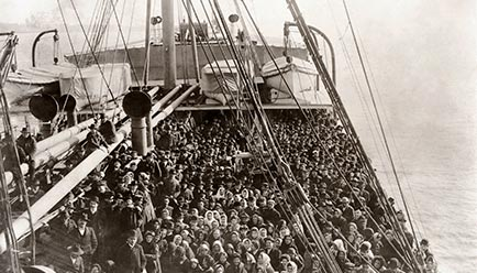 European immigrants on their way to America bringing their niche skills, and culture, with them.