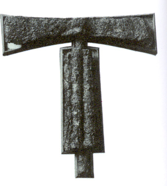 An ornate iron Etruscan fasces; the symbol of authority for Etruscan Kings.
