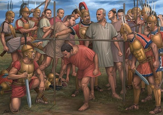 "The practice of passing under the yoke (passum sub iugum) was a way to humiliate captured enemy soldiers in ancient Italy. ""Under the yoke"" is still used as a phrase when describing subjugation and defeat."