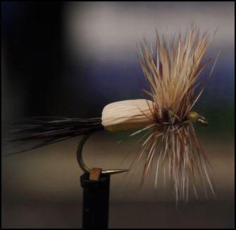 Yellow Humpy tied by Matt Grober