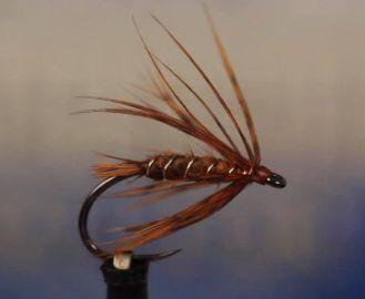 October Caddis S.H. - courtesy of Tight Line Productions and tied by Tim Flagler