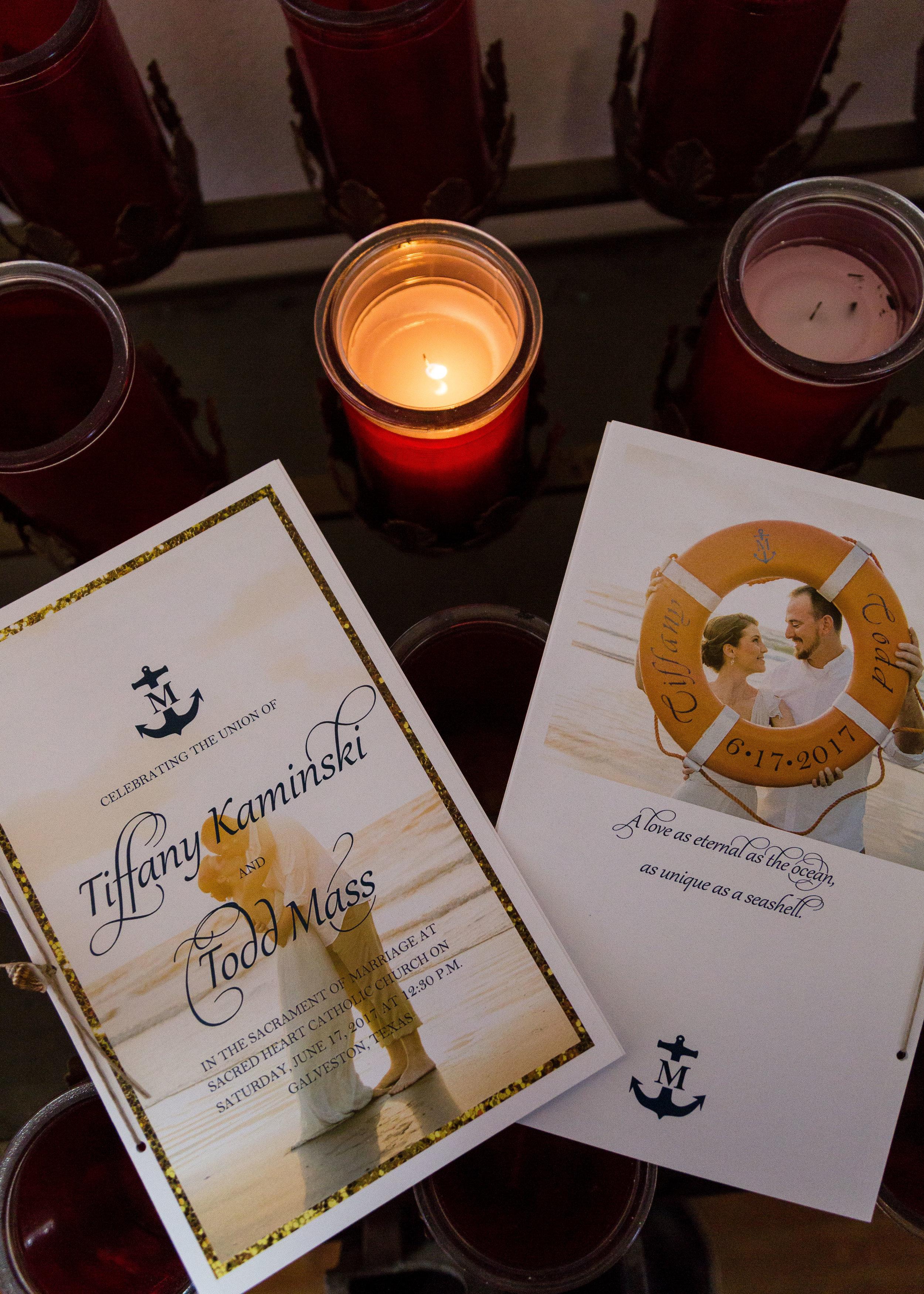 DIY Nautical Wedding Ceremony Programs