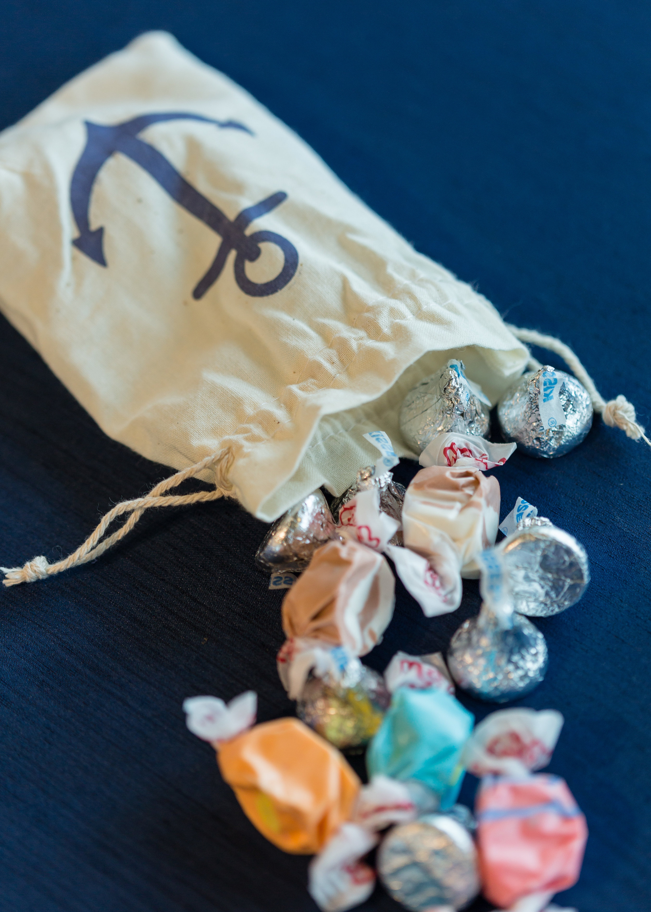 Nautical Wedding Favor Candy Bags