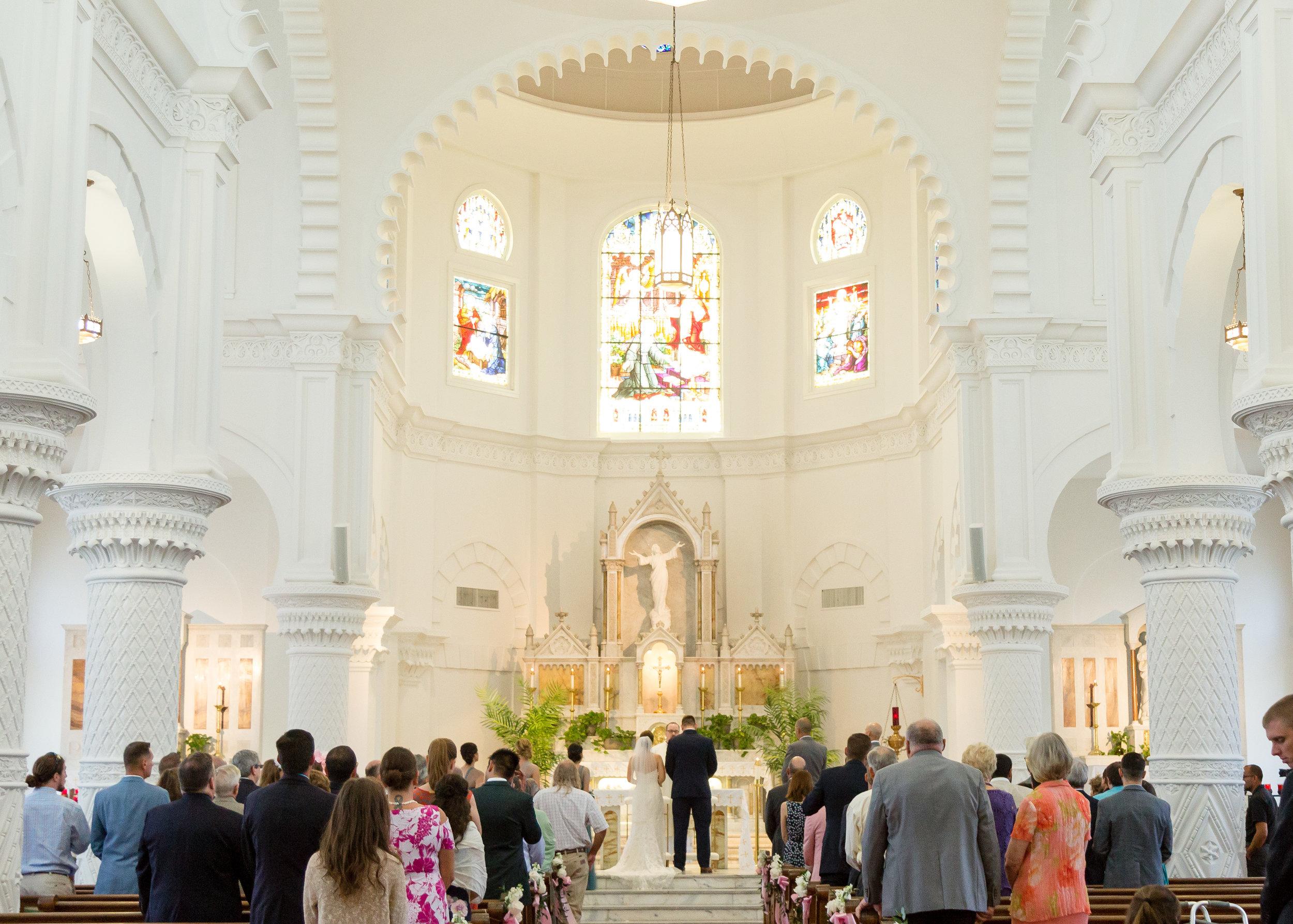 Sacred Heart Catholic Church Wedding Ceremony