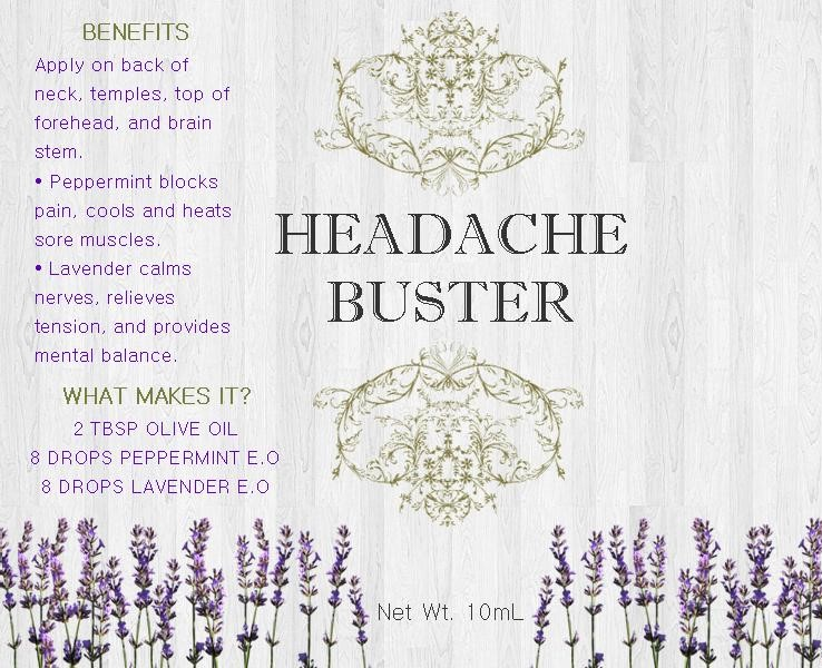 Headache Buster Label Printable