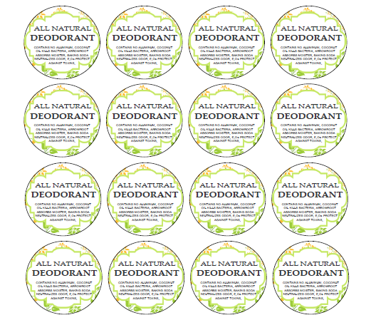 Deodorant Label Printables