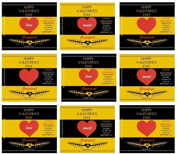 Bee Mine Chapstick Label Printabless