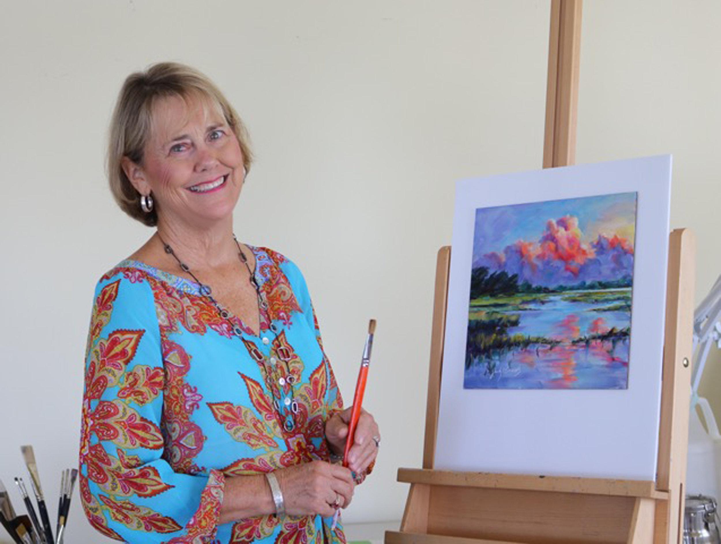 Judy in her beach studio.