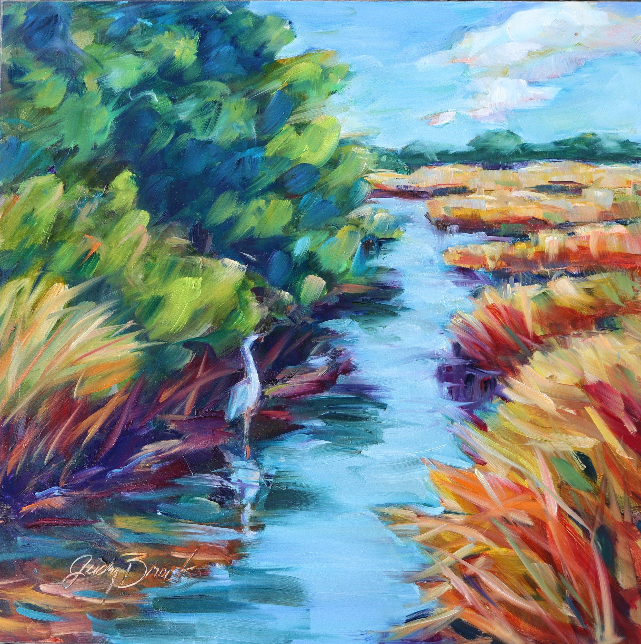 Egret in the Swash