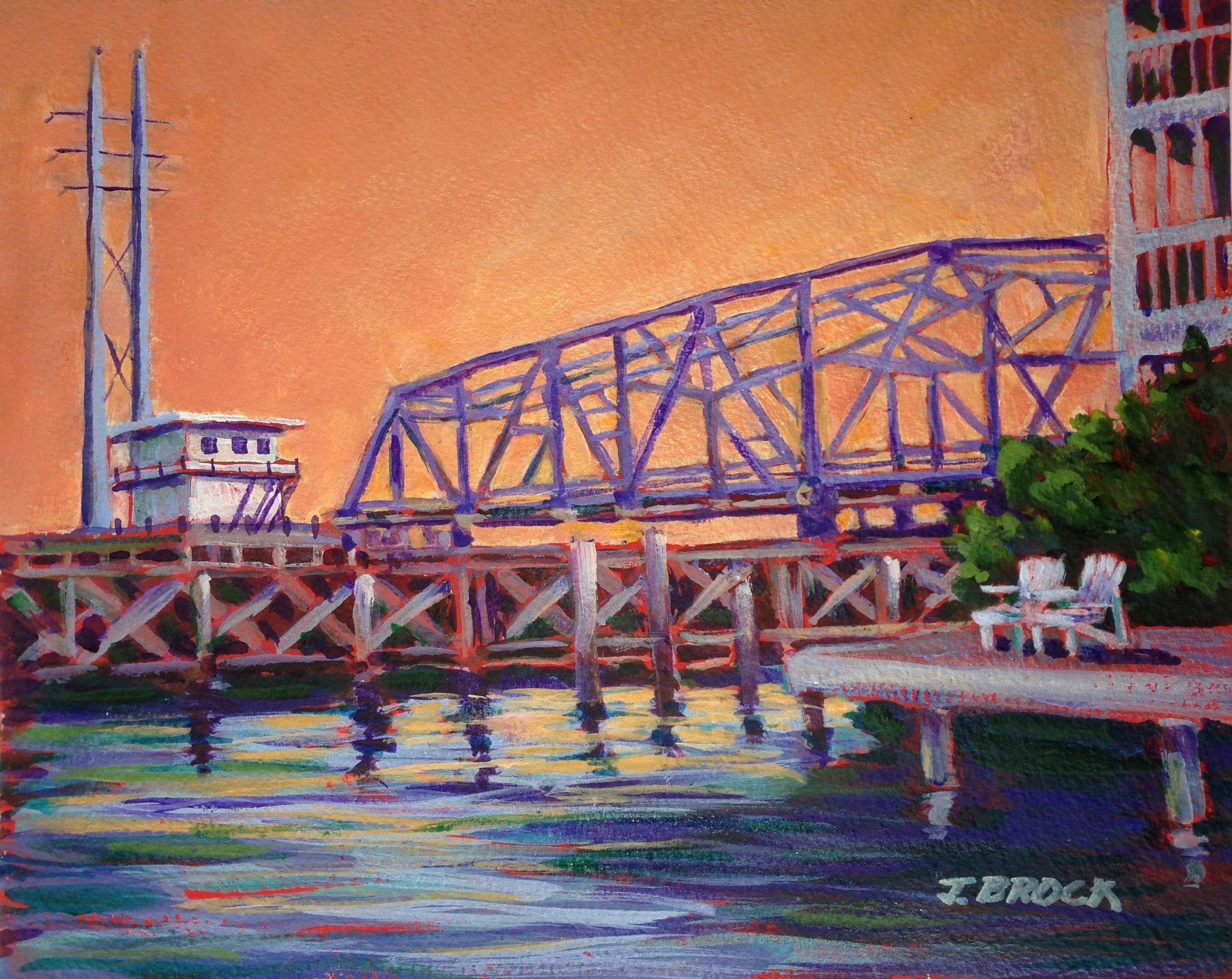 Topsail Bridge at Sunset