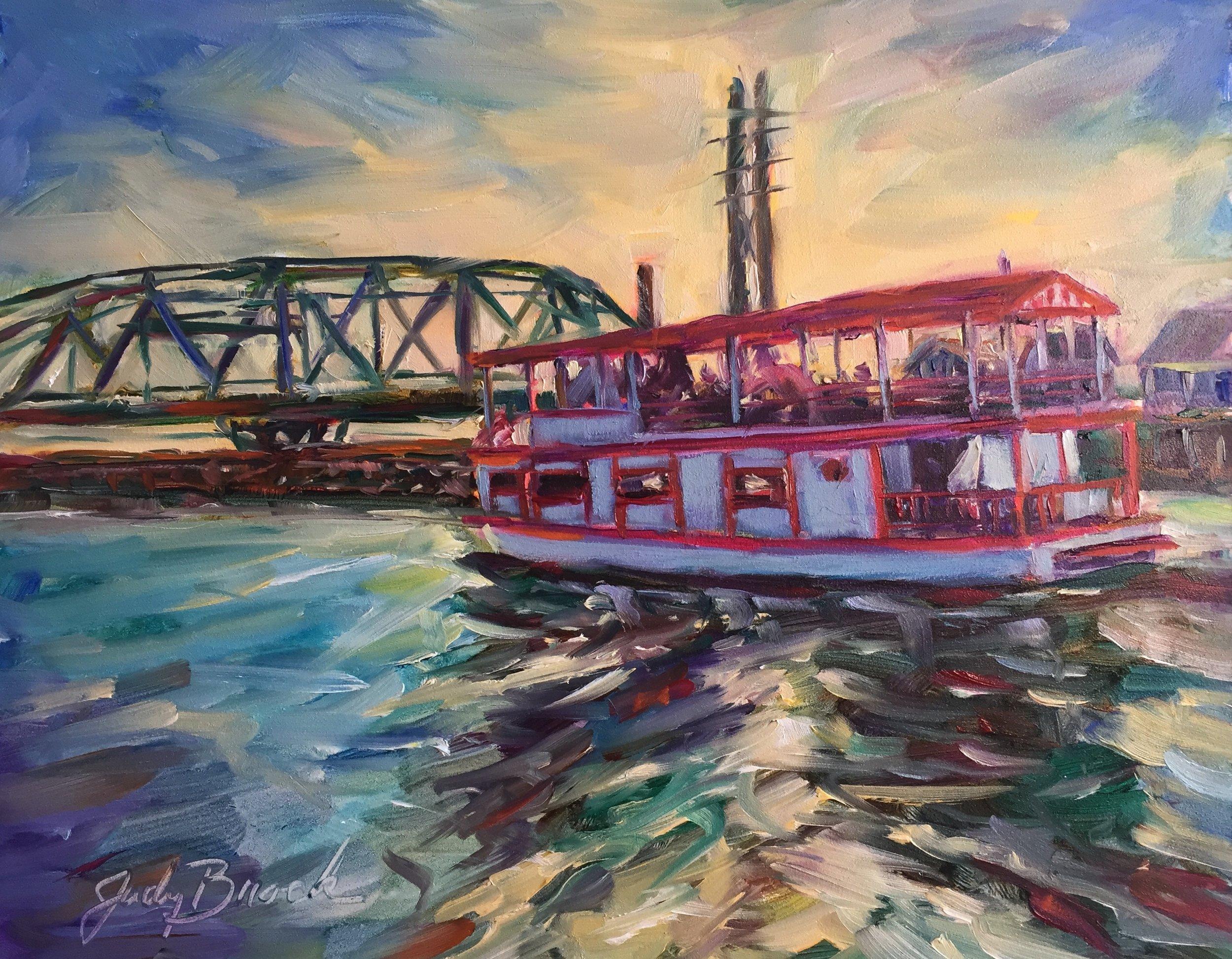 Topsail Belle at the Swing Bridge