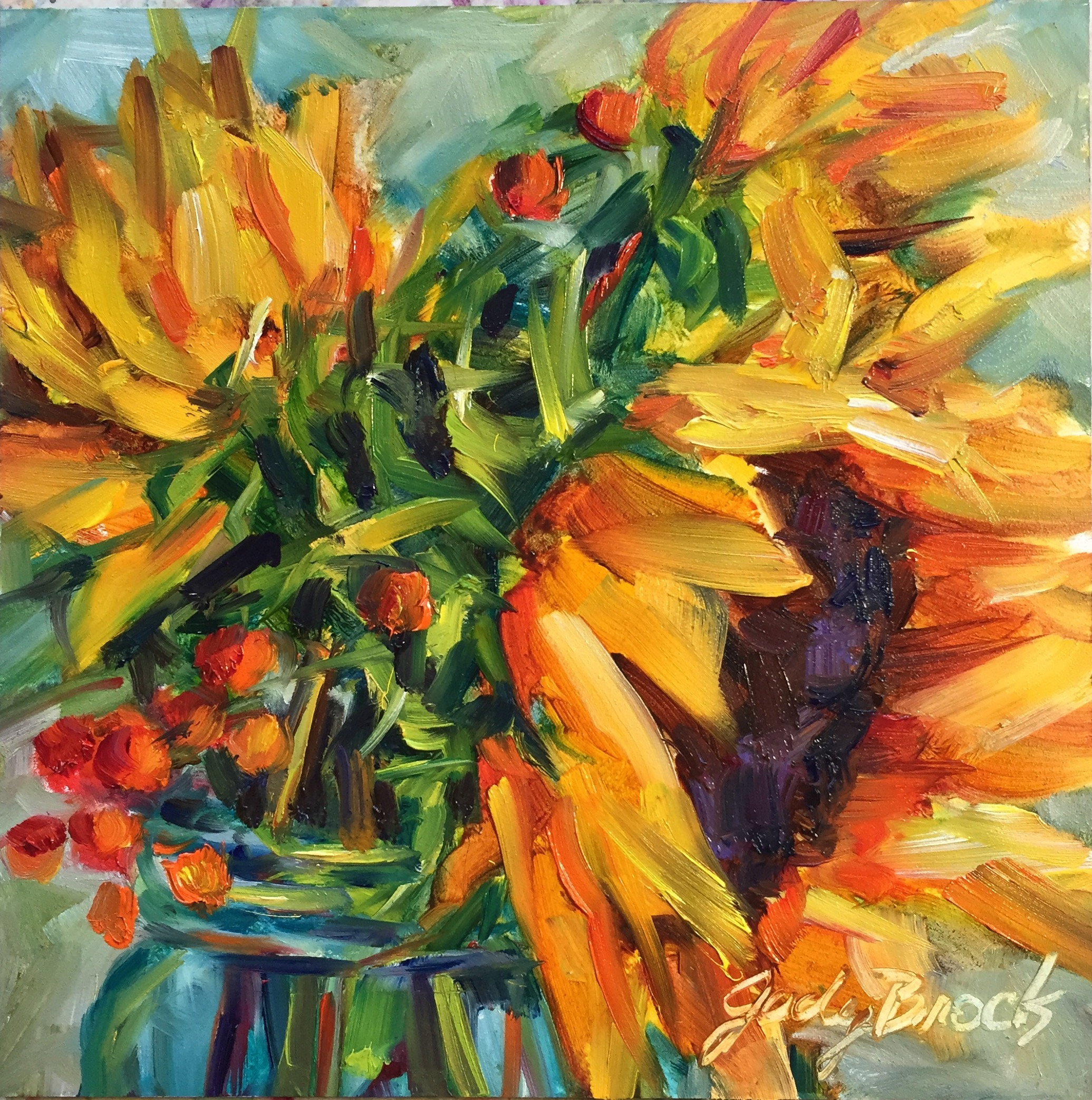 Sunflowers and Berries