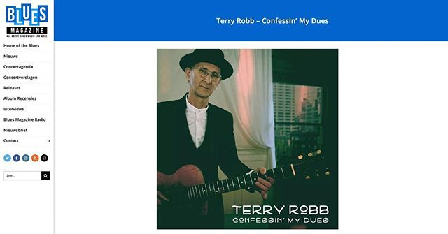 Terry's new album Confessin' My Dues (out worldwide May 31st)  is featured in @BluesMagazine! Head to our link in bio to read more.