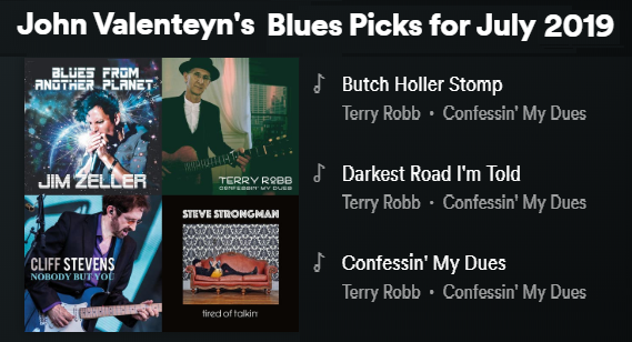 Click the image above to listen to John Valenteyn's Blues Picks for July playlist on Spotify.