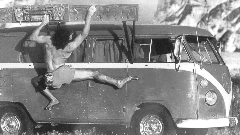 Dirtbag Stefan Glowacz's iconic dirtbag VW at Smith Rock, Oregon