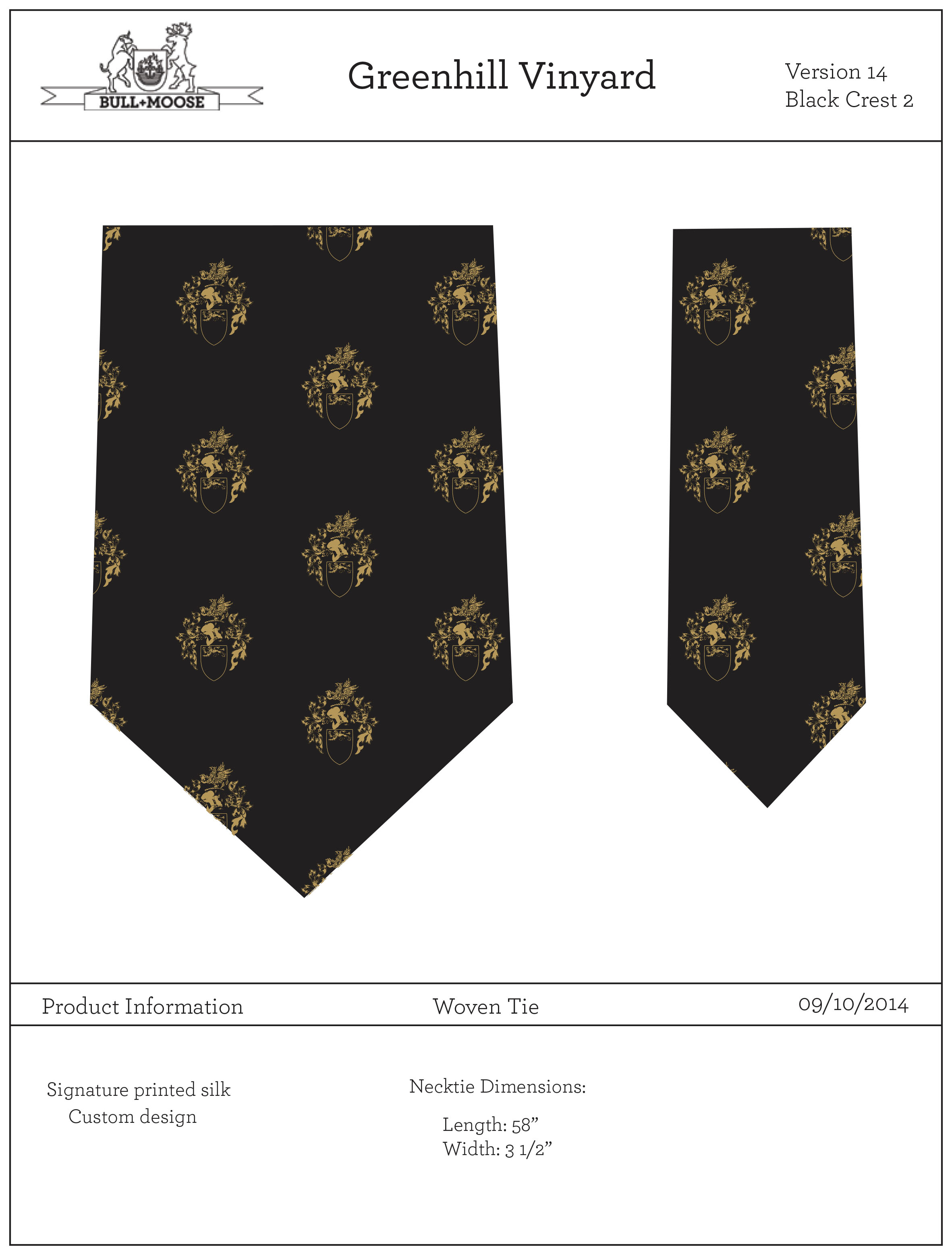 Template and Tie Design