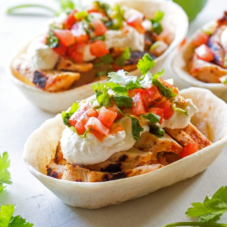 Grilled Chicken Tacos with Feta