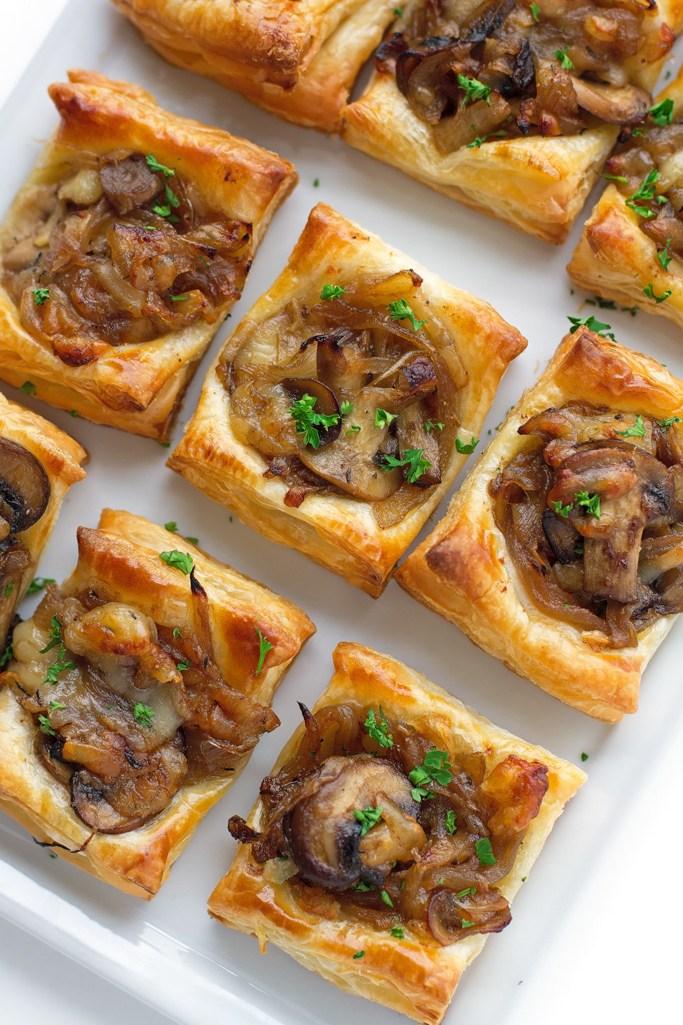 Gruyere, Mushroom & Carmelized Onion BItes