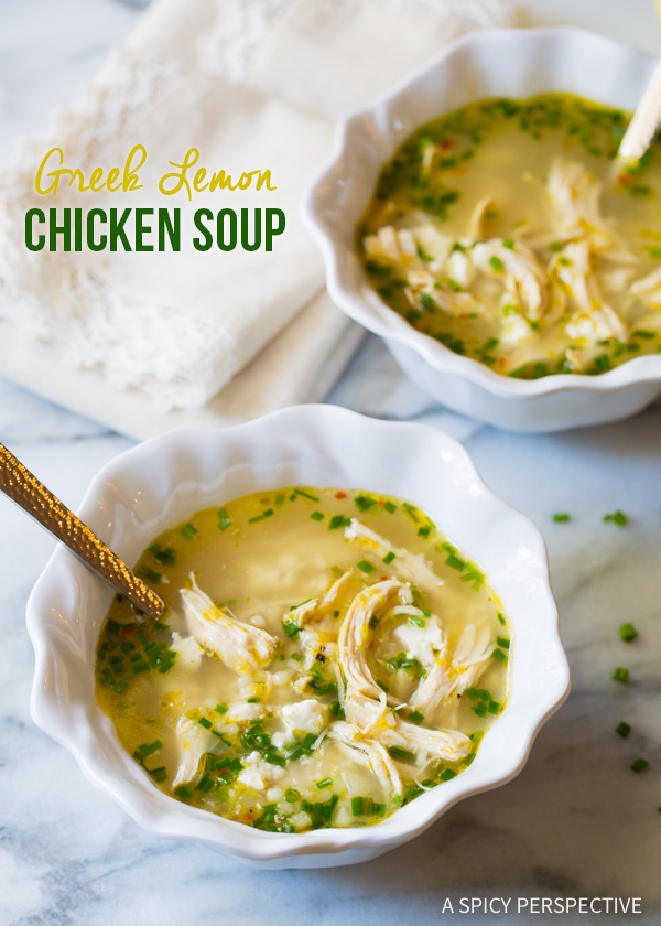 Greek Lemon & Chicken Soup
