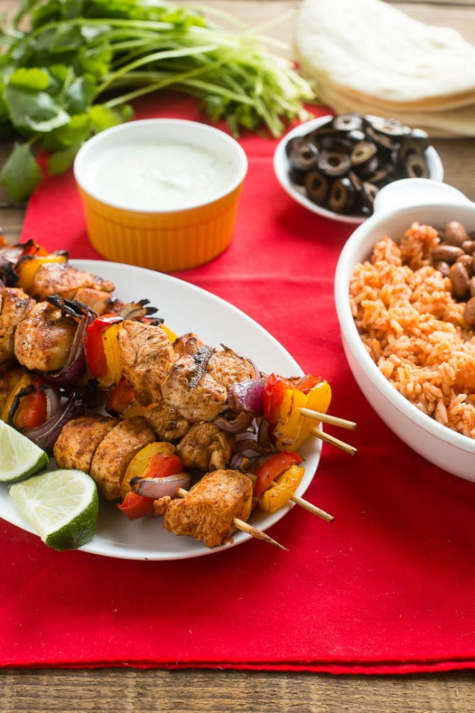 Grilled Chicken Fajitas on a Stick