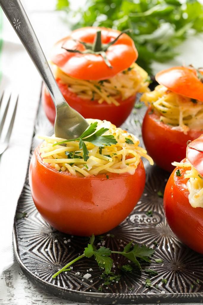 Spaghetti Stuffed Tomatoes