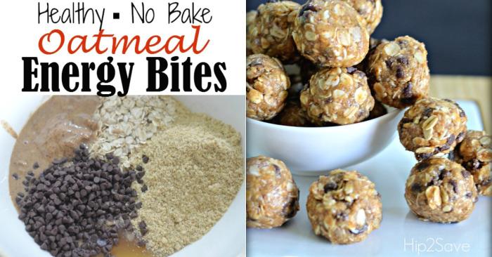 No Bake Oatmeal Energy Bites