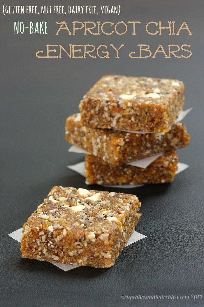 Gluten Free Vegan Apricot Chia Energy Bars