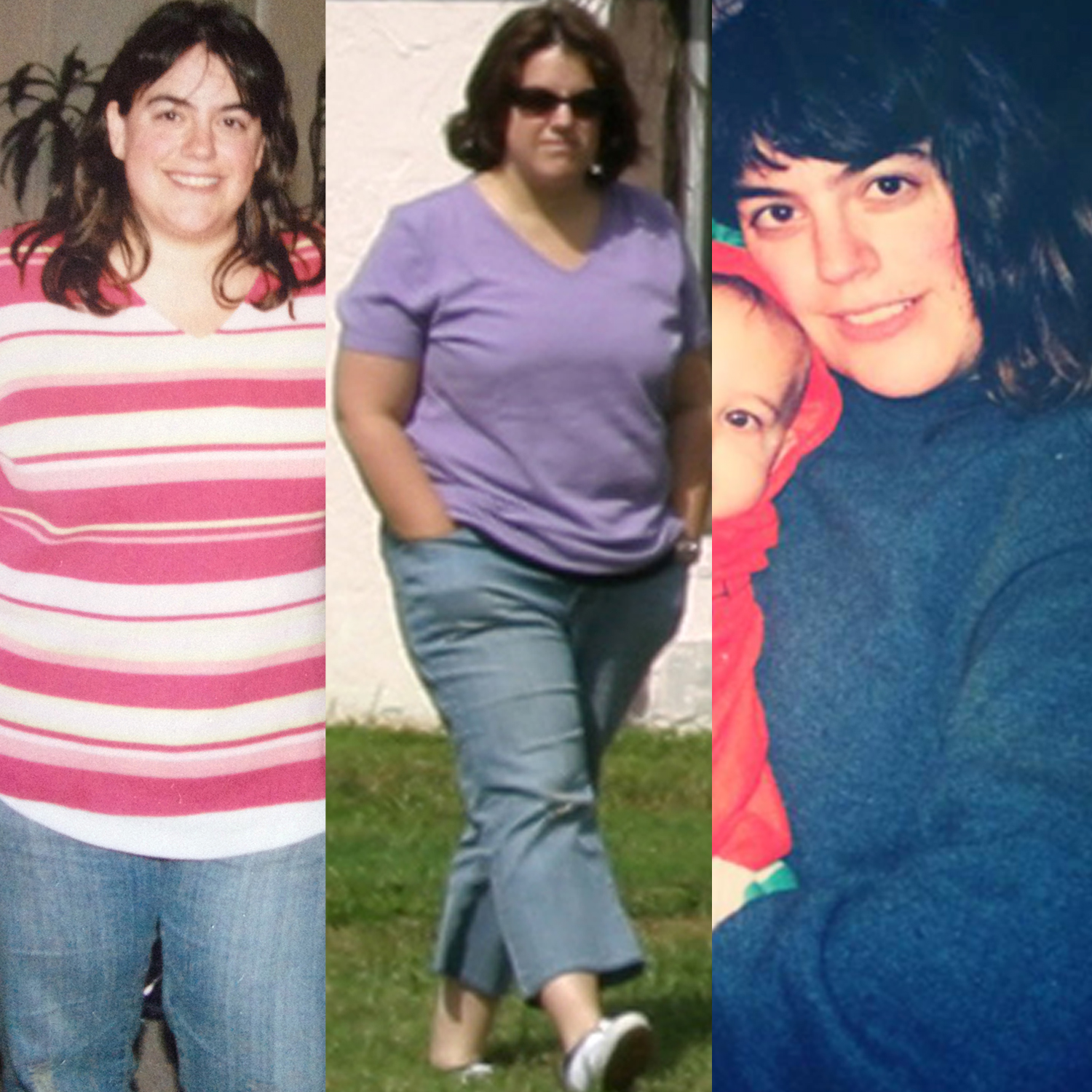 """The """"before"""" pics - these aren't at the height of my weight but they give you a good idea...."""