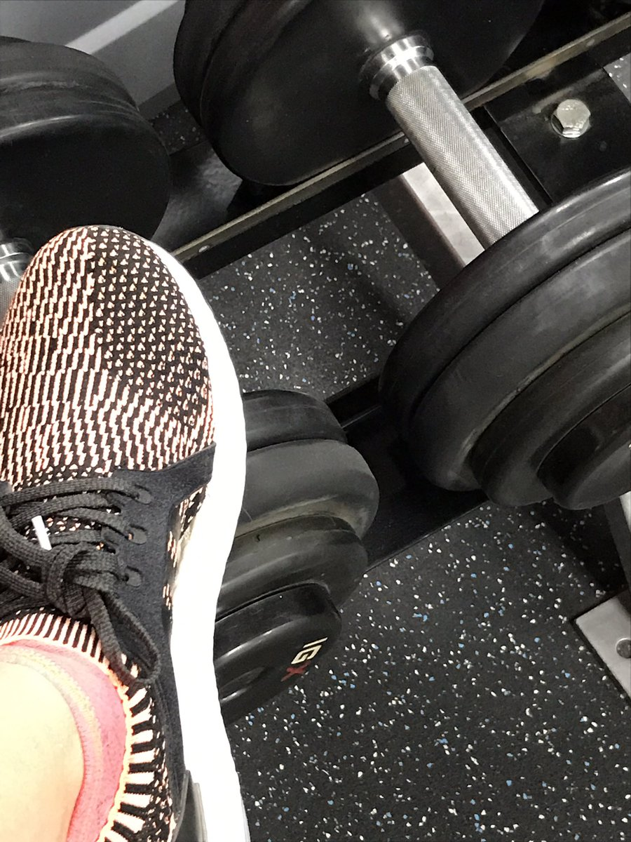 Super-fly shoes in the gym. I'm pretty sure I lifted heavier weights because I felt cool in these shoes.