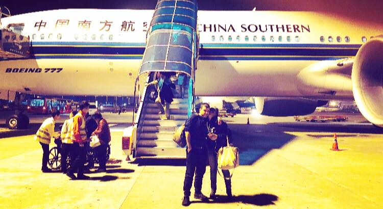 China Southern Air.... well, at least we didn't die. That's all I can say about that. Bubble Gum and Duct tape held this plane together.