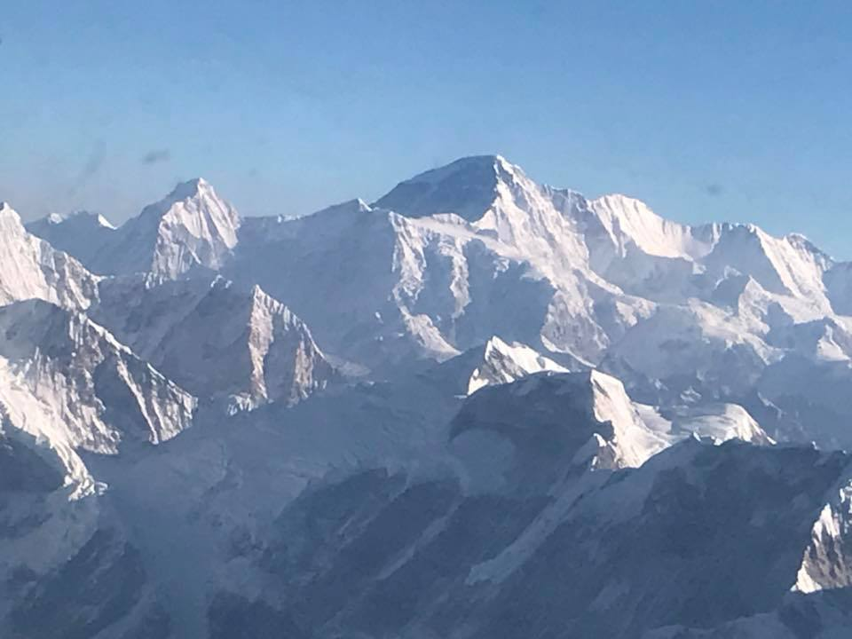 Note: that peak is NOT Mount Everest - but it's one of the pics that came out ok from my iPhone so it'll do. Pardon the dirt on the pic - the airplane window was dirty.