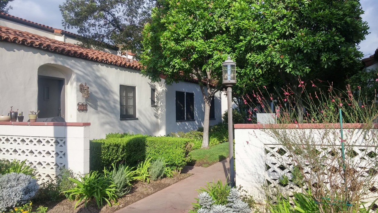 Spanish Revival style attached bungalows