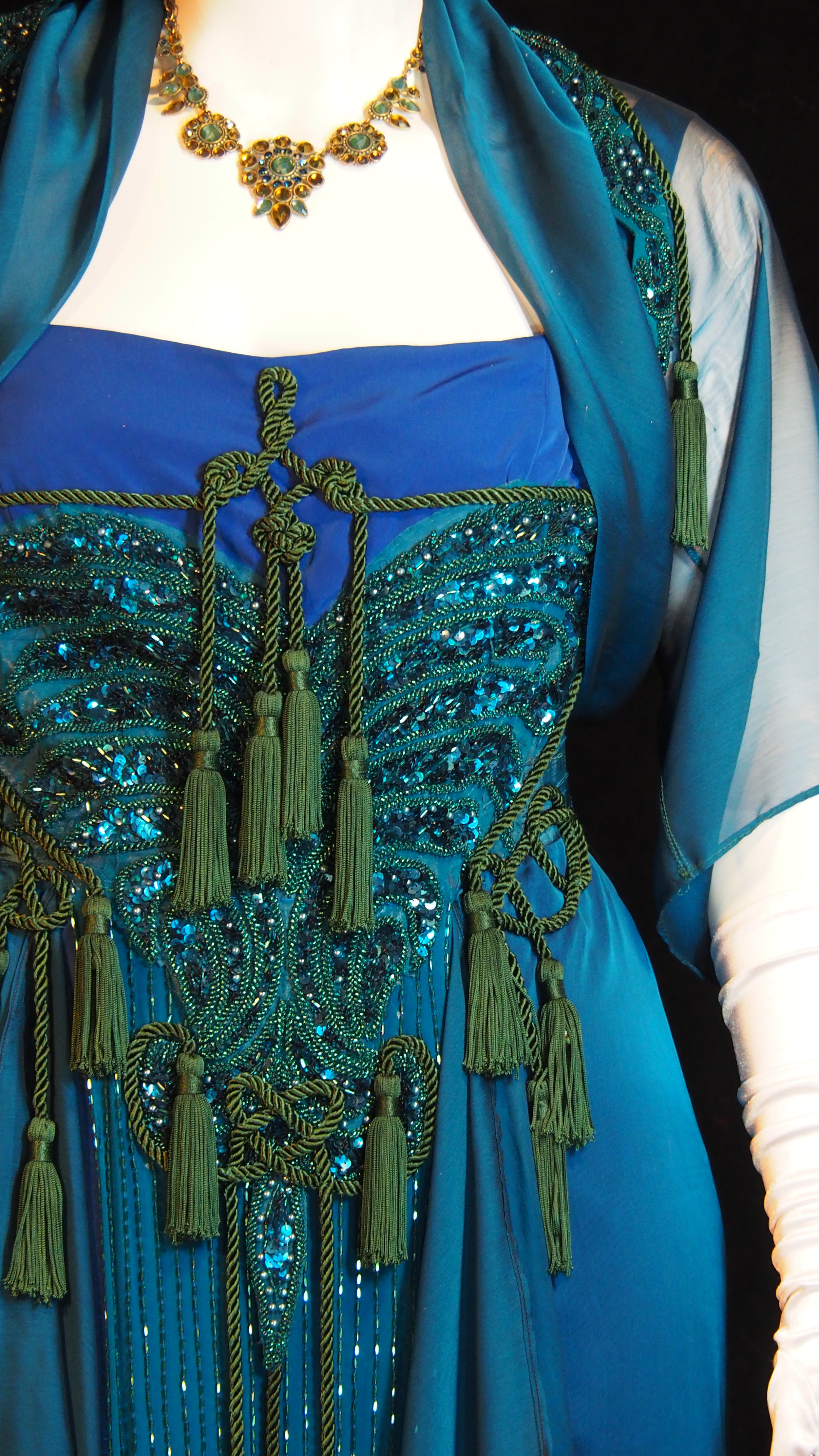 - Peacock Blue Gown