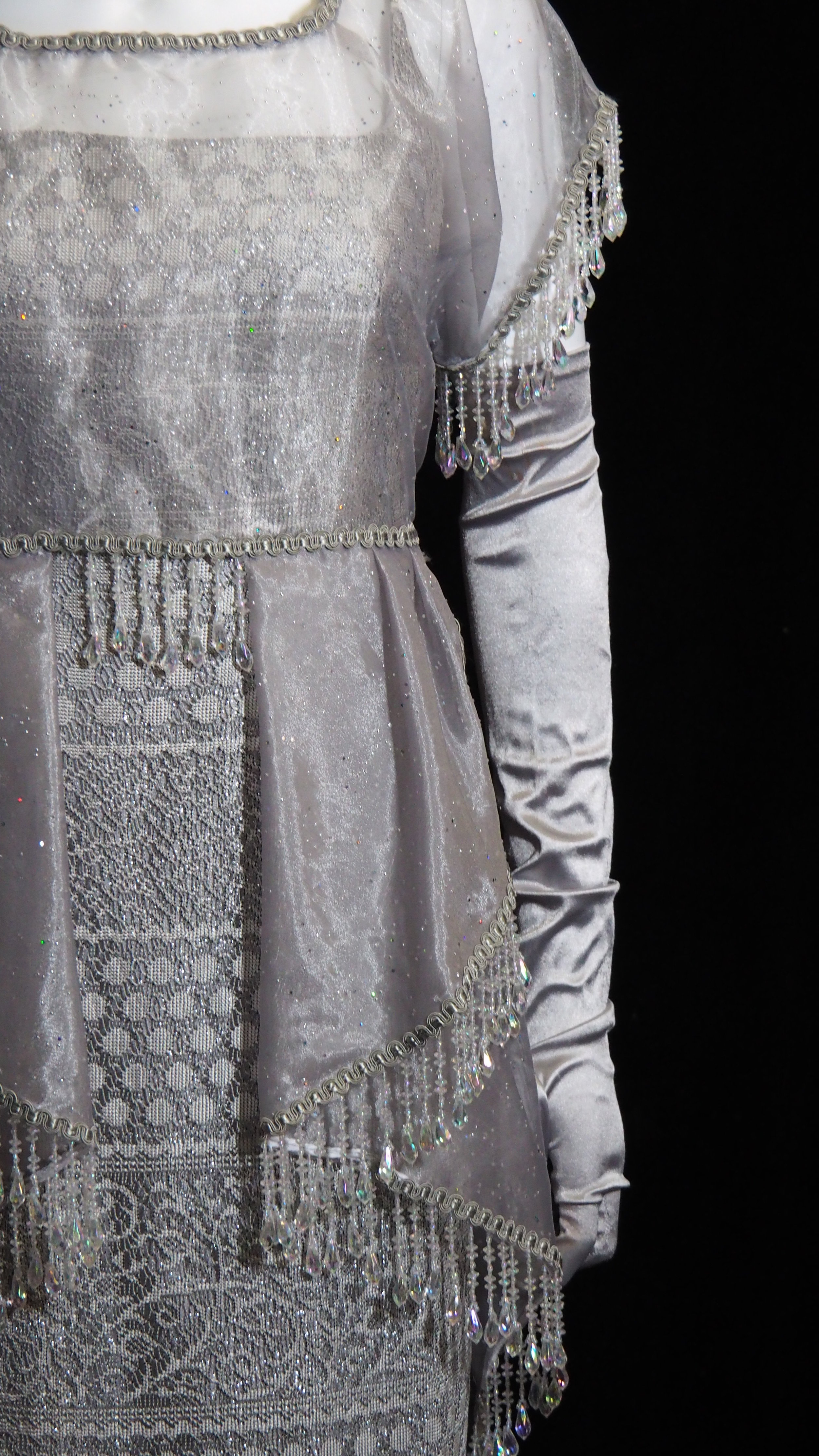 - Silver Beaded Gown
